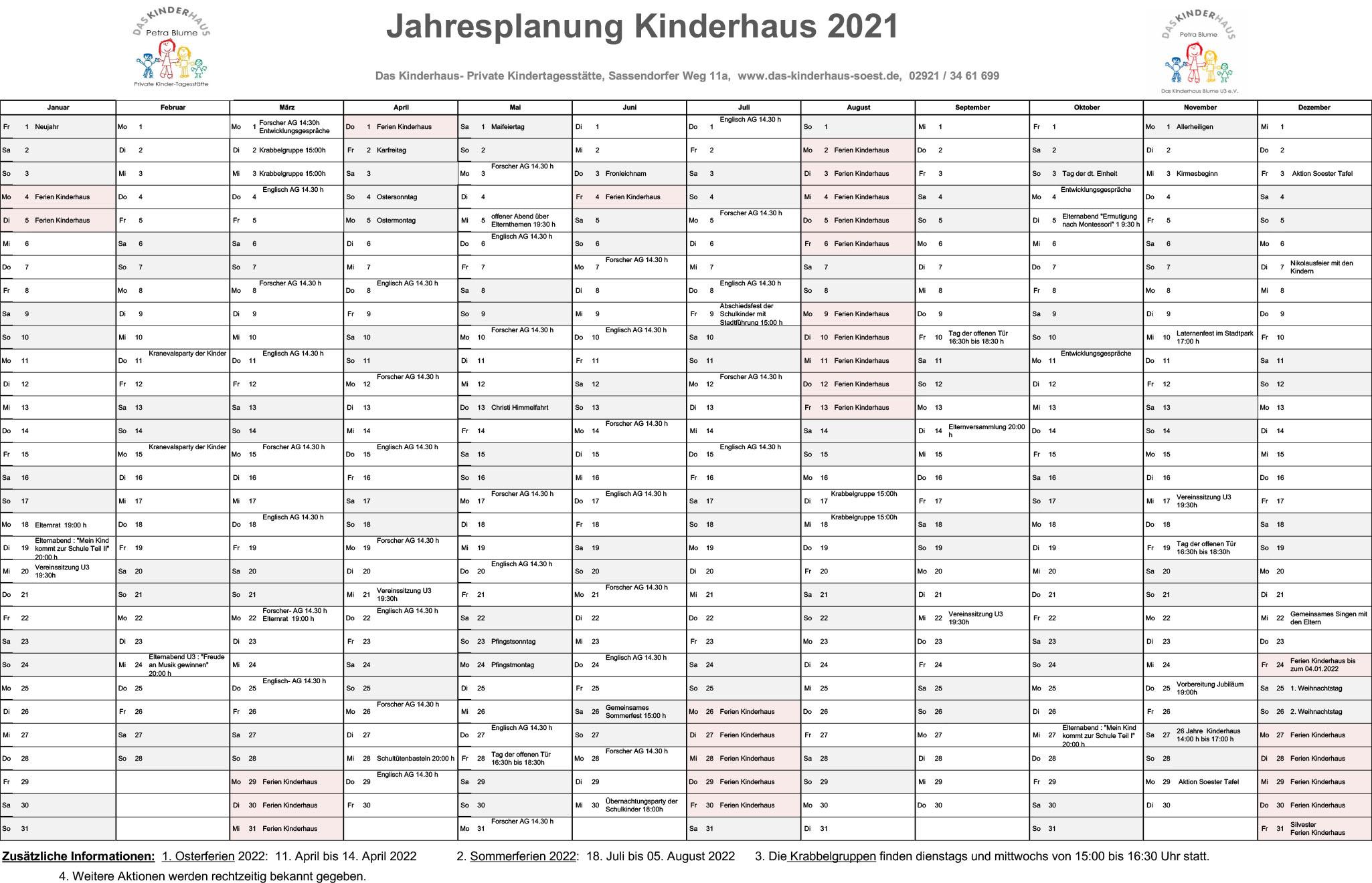 Kalender-Kinderhaus 2021